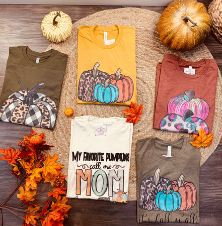 """Pumpkin Patch"" Women's Fall Graphic Tshirt COLLECTION - Jobes Hats"