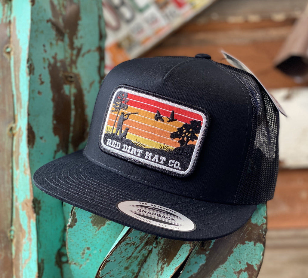 Red Dirt Hat Co. - All Black Flight patch - Jobes Hats