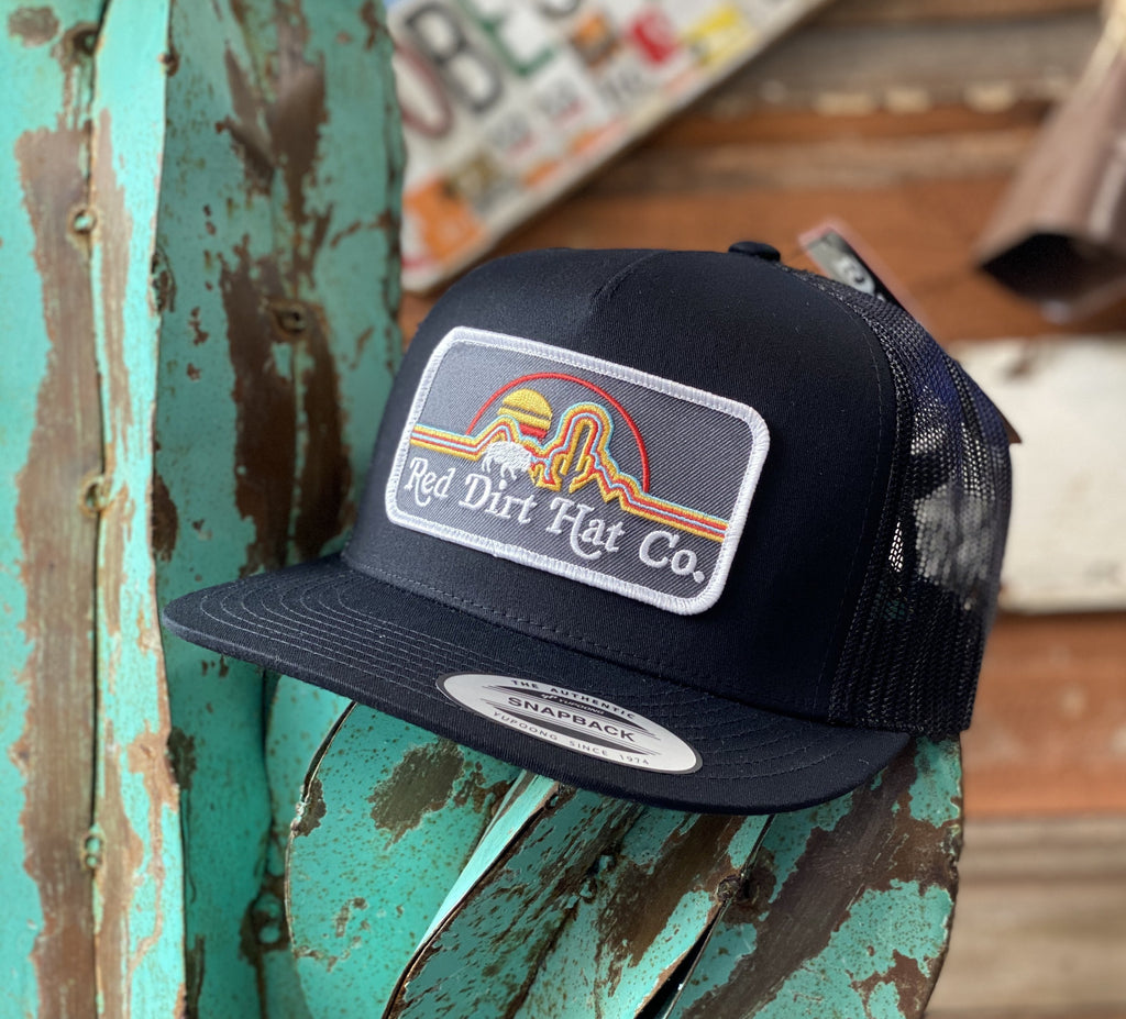 Red Dirt Hat Co. - All Black Neon Buffalo patch - Jobes Hats