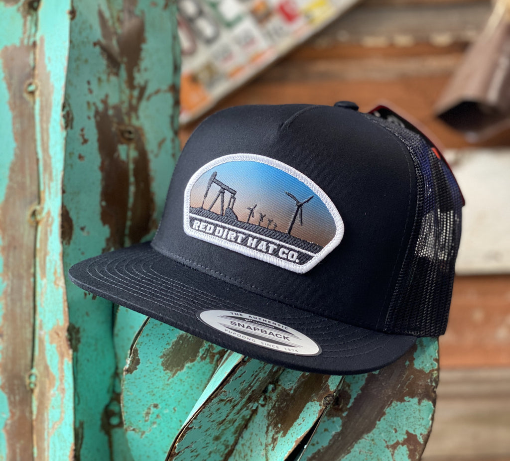 Red Dirt Hat Co. - All Black Plains patch - Jobes Hats