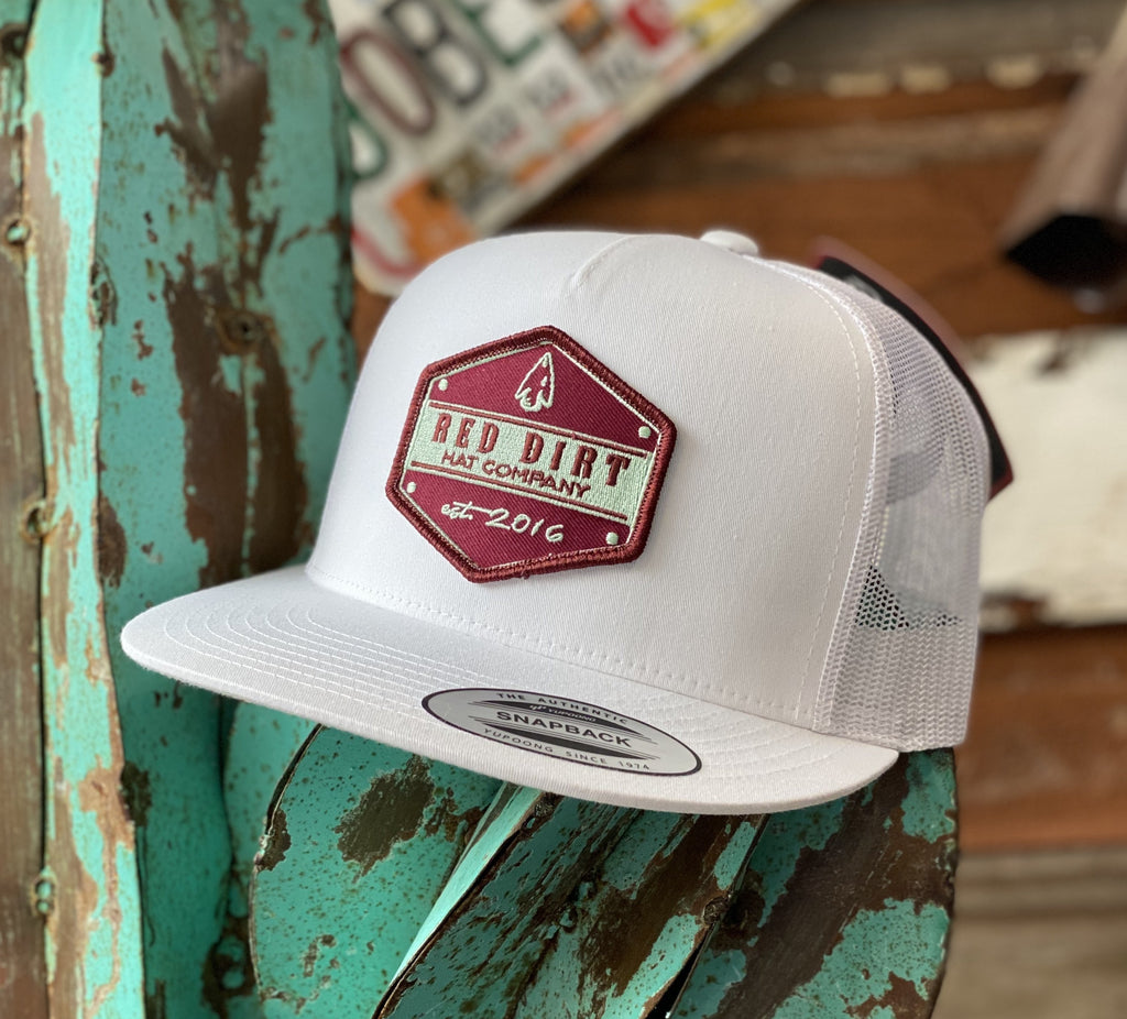 Red Dirt Hat Co. - All White Arrow Head patch - Jobes Hats