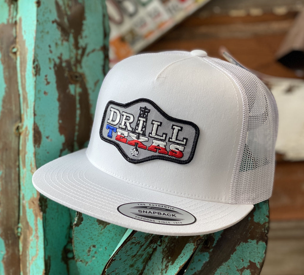 Red Dirt Hat Co. - All White Drill TexaS - Jobes Hats