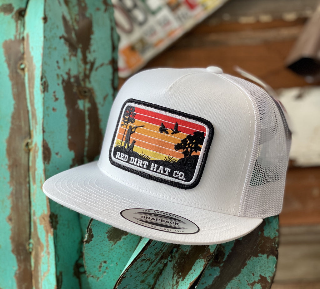 Red Dirt Hat Co. - All White Flight patch - Jobes Hats