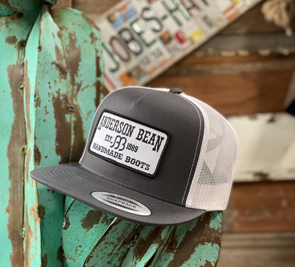 Red Dirt Hat Co. - Grey/White Anderson Bean patch - Jobes Hats