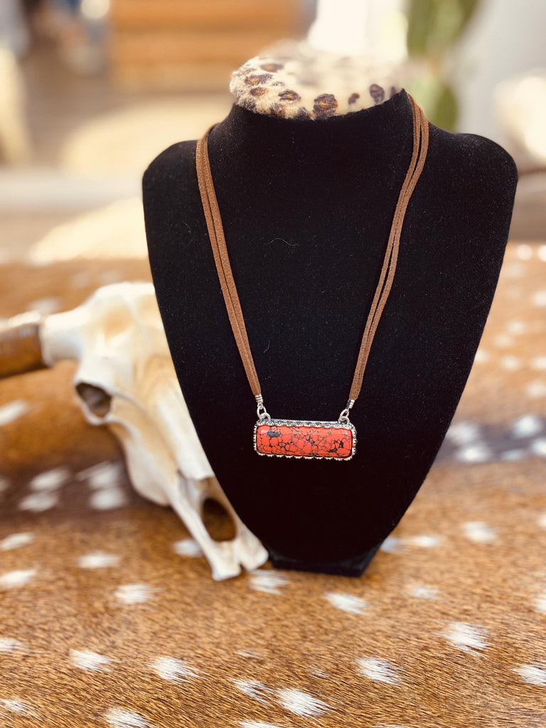 Red Stone Necklace - Jobes Hats