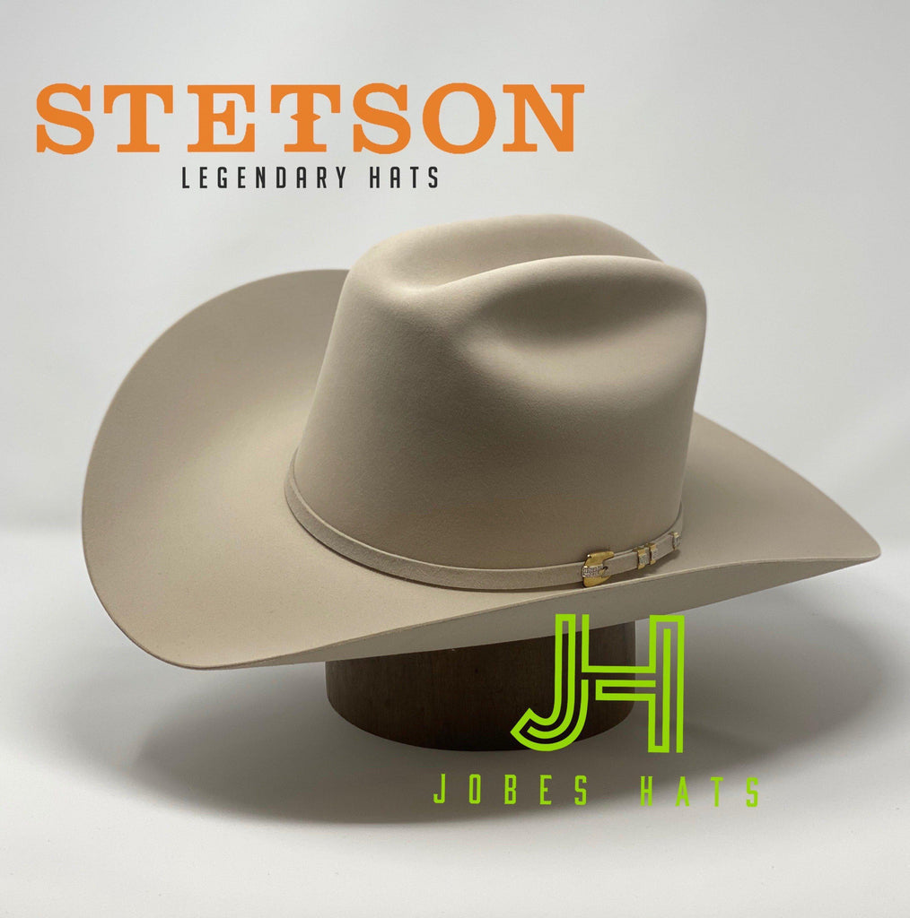 "Stetson 1000X El Diamante Silverbelly 5"" 3/4 Crown 4"" Brim - Jobes Hats"