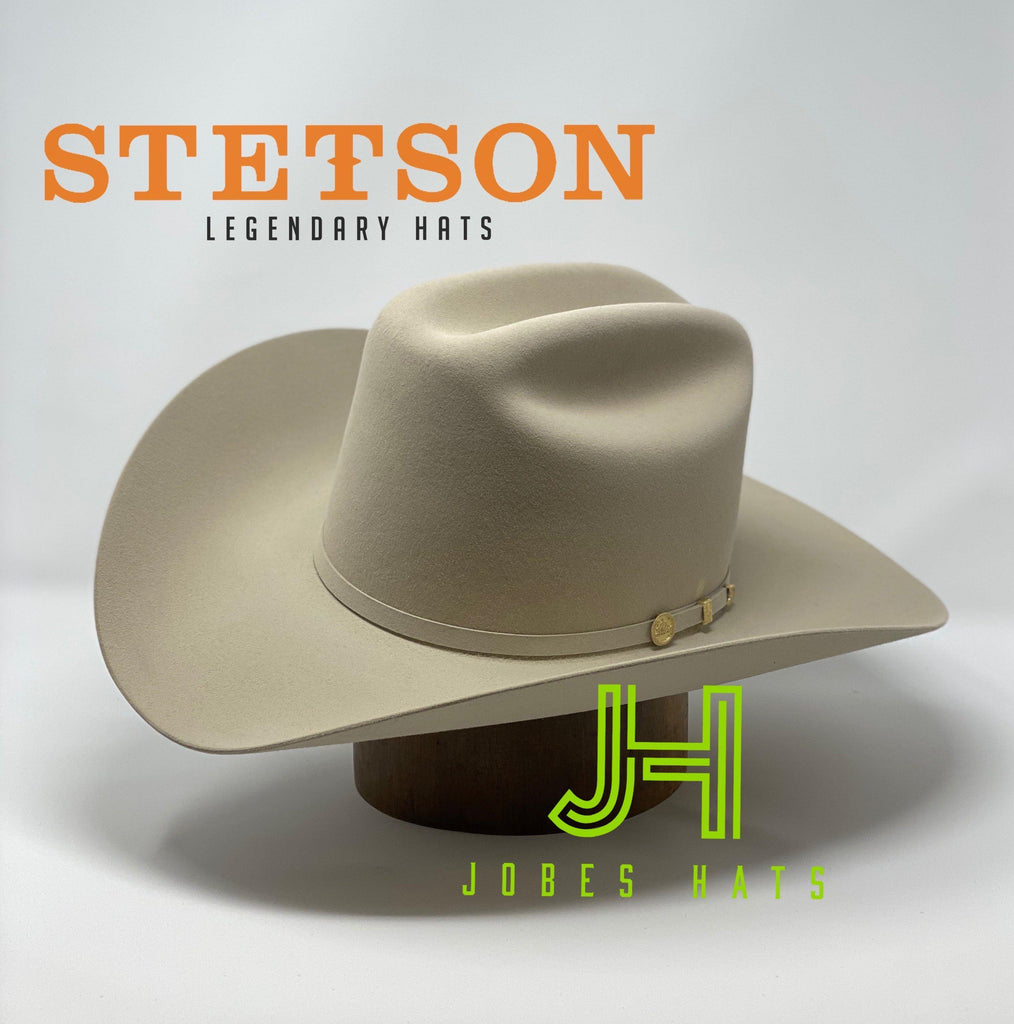 "Stetson 100X El Presidente Silverbelly 5"" 3/4 Crown 4"" brim - Jobes Hats"