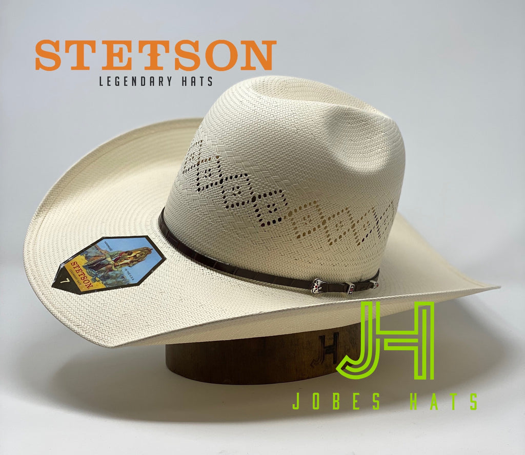 "Stetson 2020 Model ""North Star N"" Gator print Hatband 4""1/4 brim - Jobes Hats"