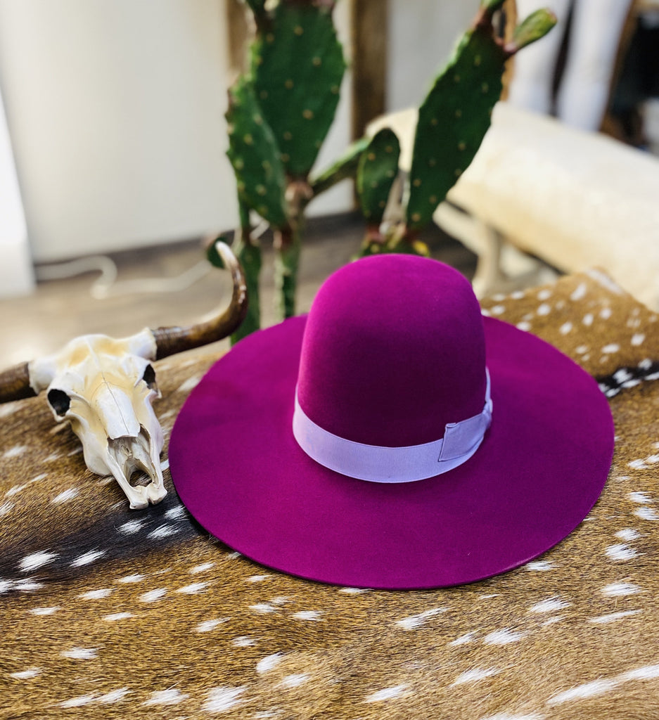 "Tacchino ""Barney"" Purple Fashion Hat - Jobes Hats"
