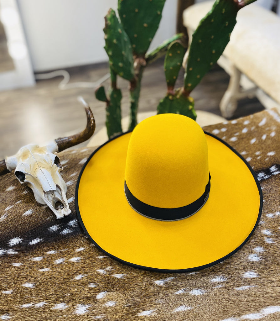 "Tacchino ""Mustard Seed"" Yellow Fashion Hat - Jobes Hats"
