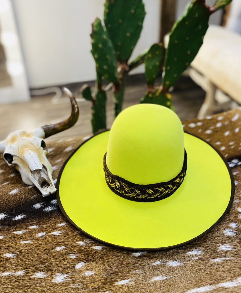 "Tacchino ""Neon Moon"" Neon Yellow Fashion Hat - Jobes Hats"