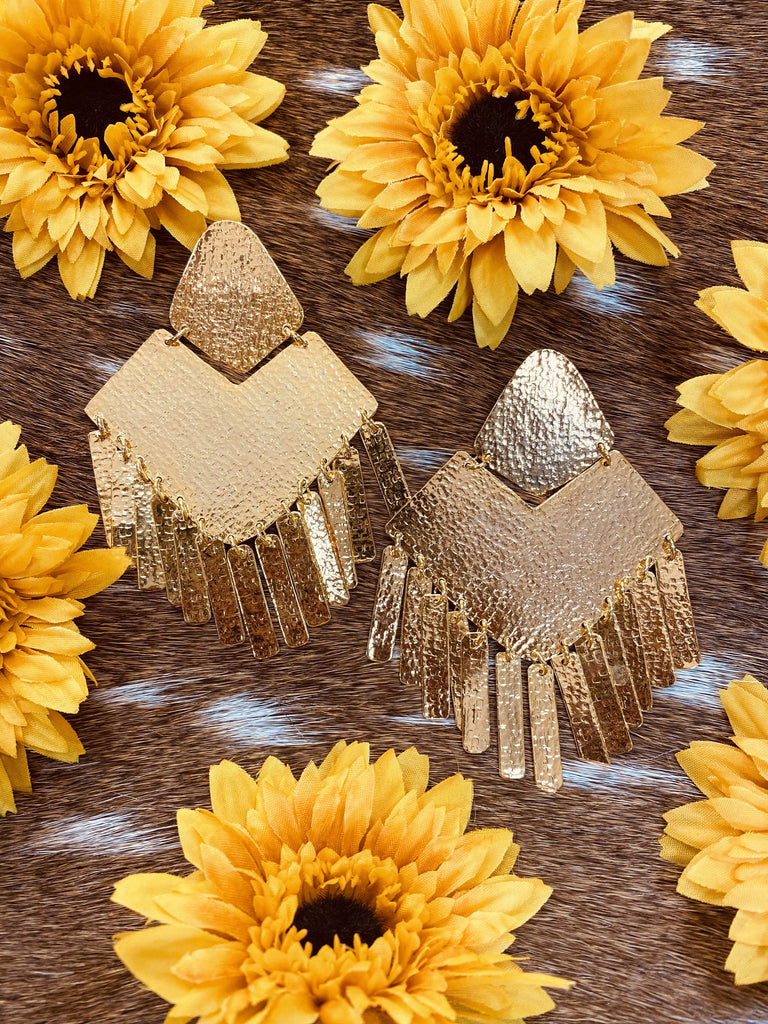Tracy Tassel Colombian Handmade 24k plated Earrings-JH Boutique-Jobes Hats