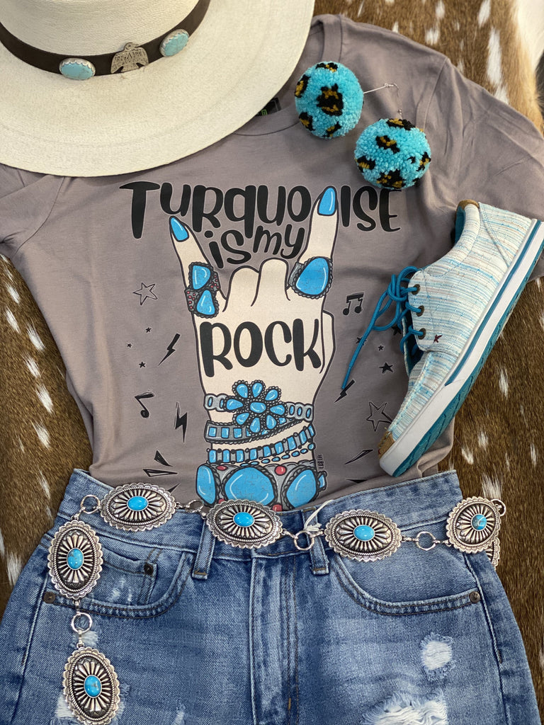 """Turquoise is my Rock"" Women's Tshirt - Jobes Hats"