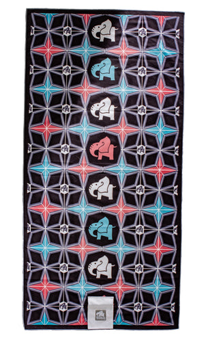 Rockabilly Elephants Beach Towel