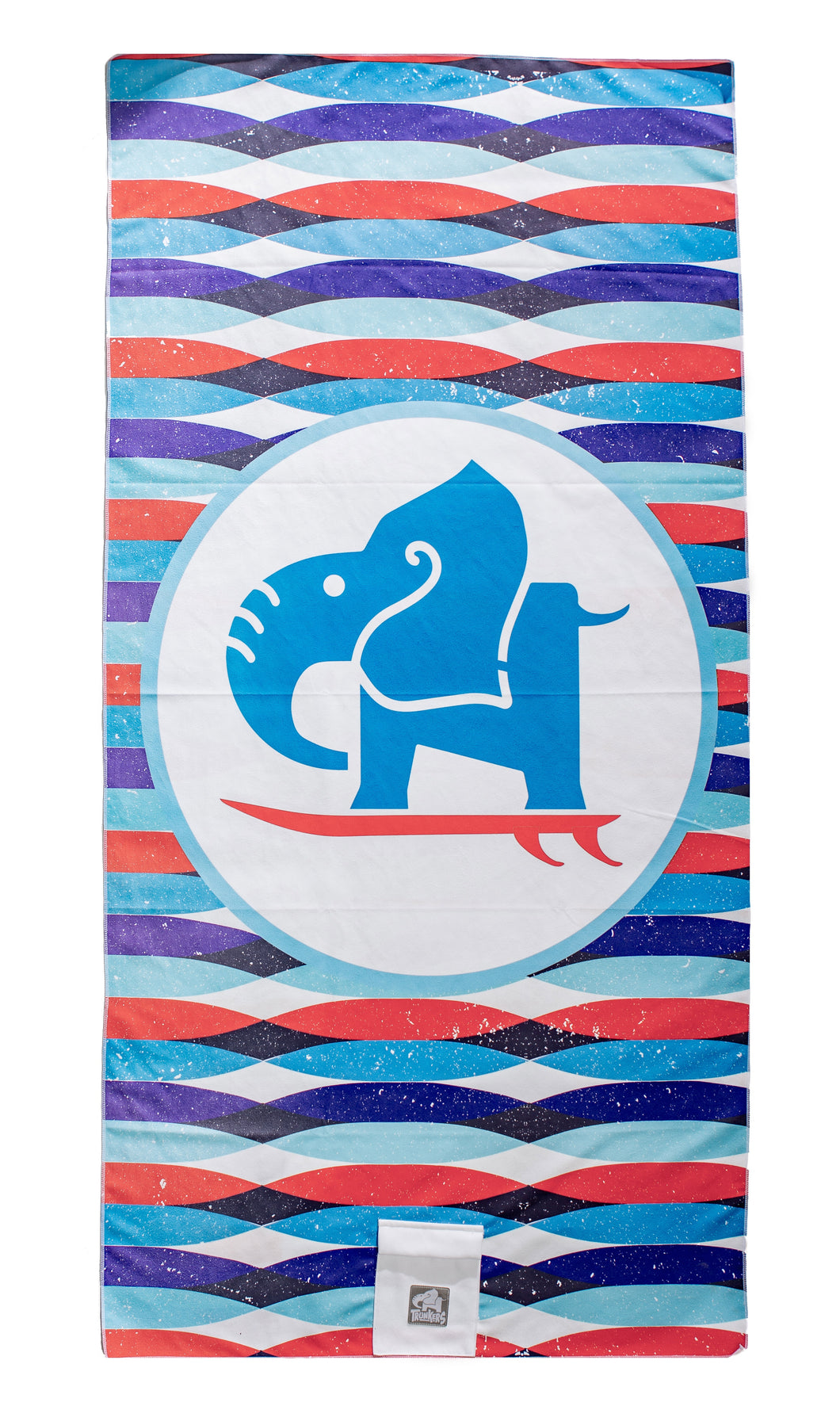 Surfing Ele Beach Towel