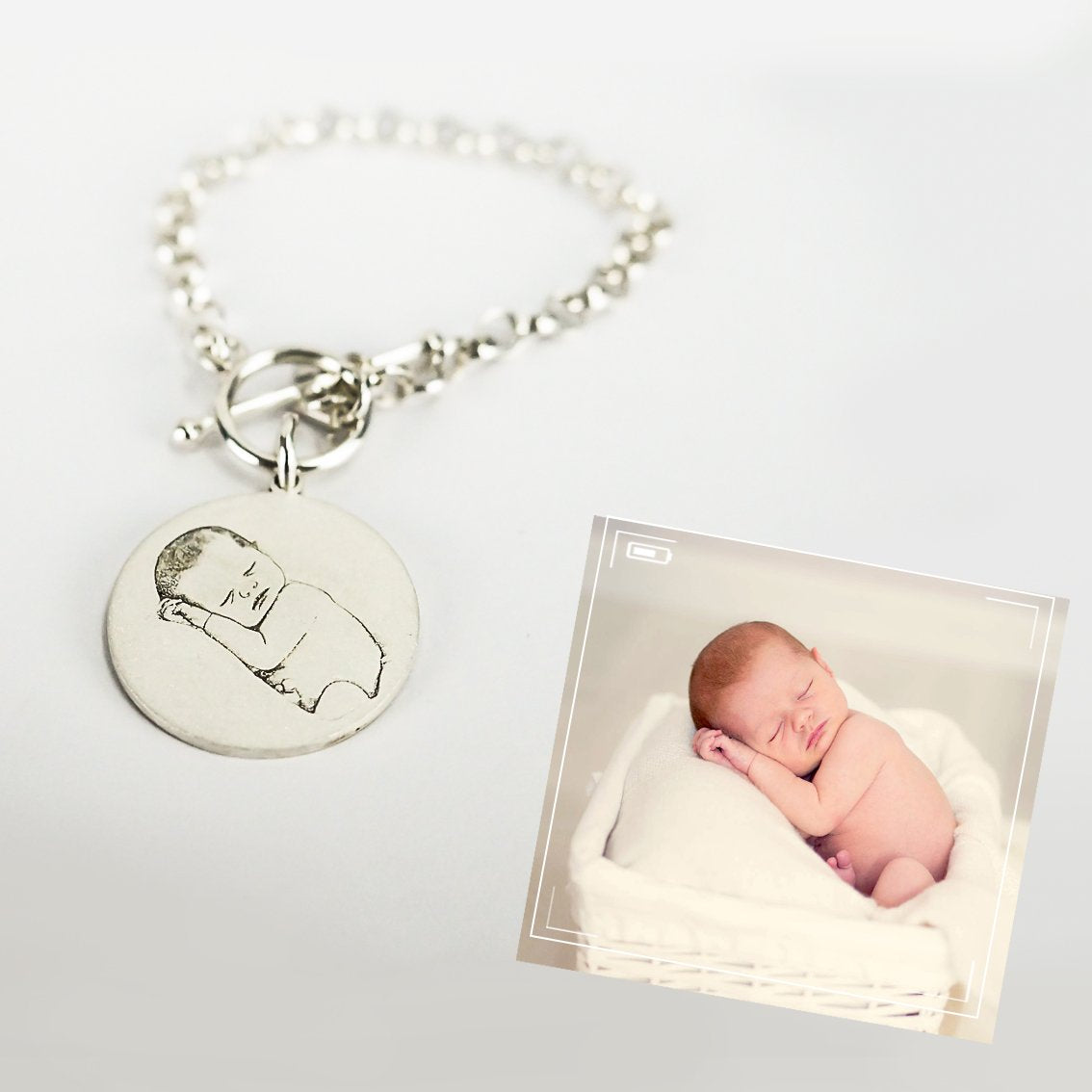 Personalized Baby Photo Bracelets Silver - Del Valle
