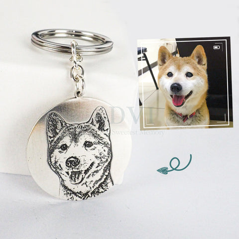 Personalized Photo Keychain (Circular Plate)