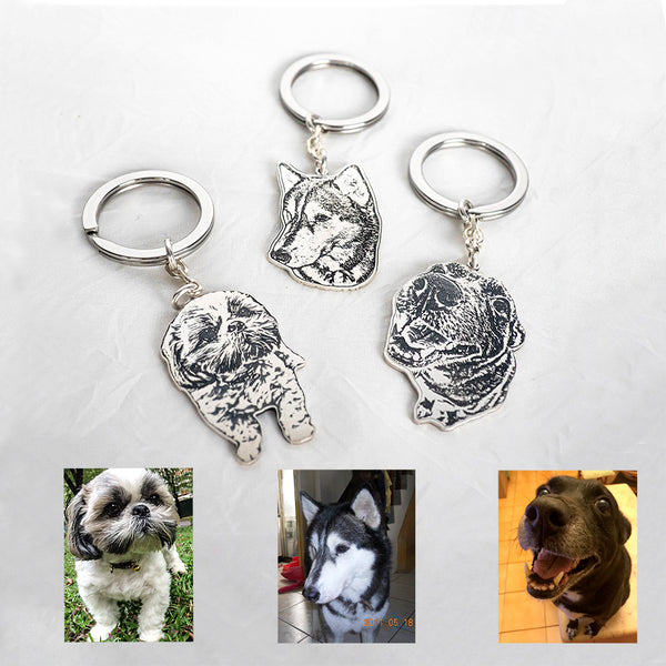 Personalized Photo Keychain-4cm