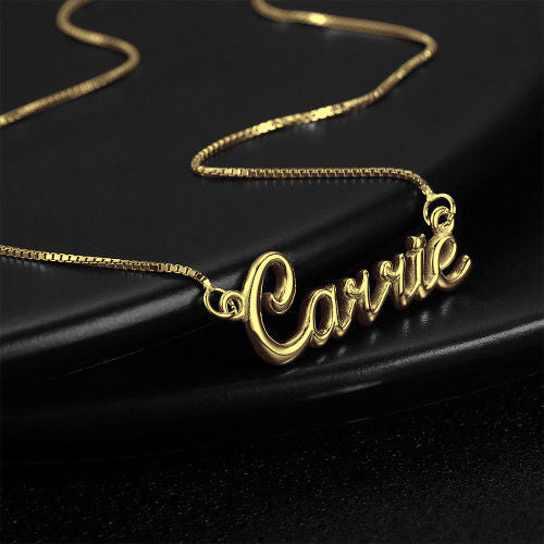 Carrie Style Personalized Name Necklace