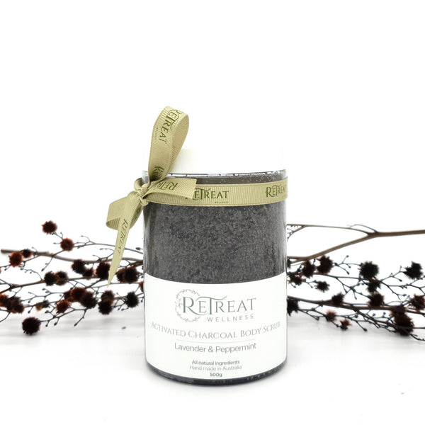 Activated Charcoal Body Scrub - Lavender & Peppermint