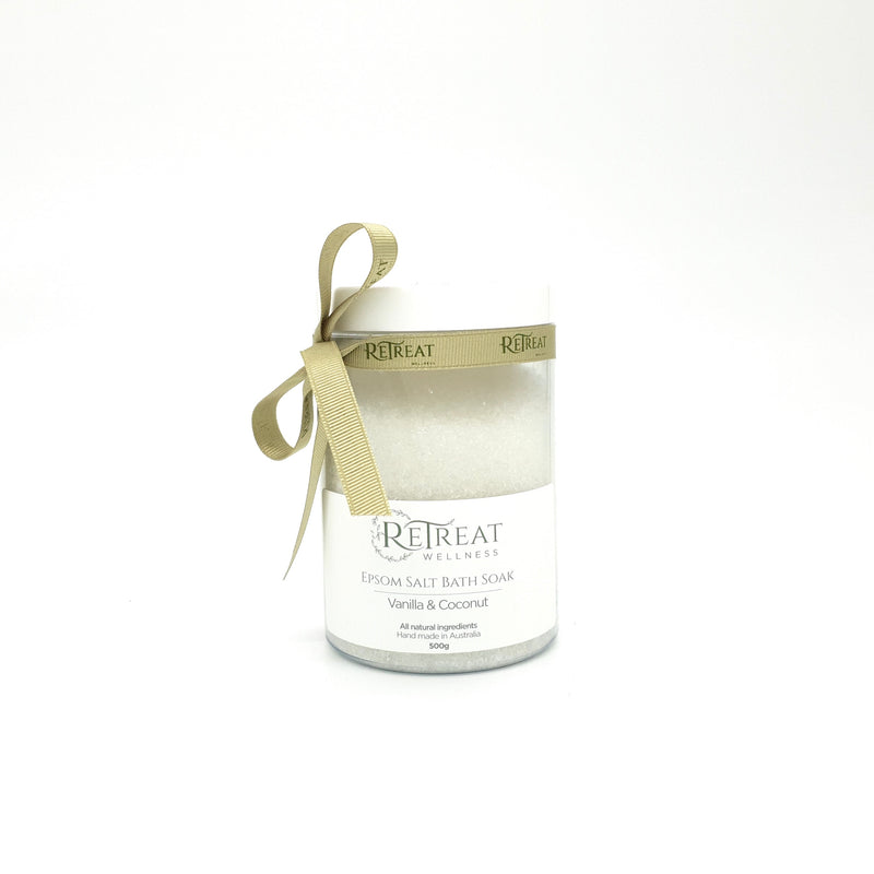 Vanilla & Coconut Epsom Salt Bath Soak