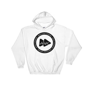 Amaculent Apparel Stamp Logo BLK Fill - Heavy Blend Hooded Sweatshirt - Amaculent Apparel