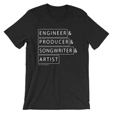 Load image into Gallery viewer, Multiple Hats - Engineer First .- T Shirt - Multiple Colors - Amaculent Apparel