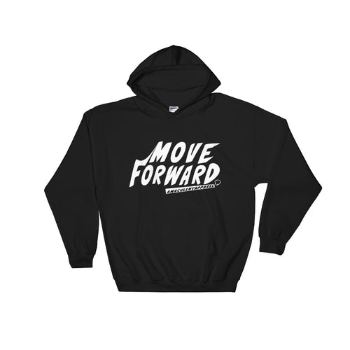 Move Forward Black Hooded Sweatshirt Design - Amaculent Apparel - Amaculent Apparel