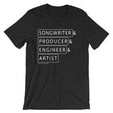 Load image into Gallery viewer, Multiple Hats - Songwriter First - T Shirt - Multiple Colors - Amaculent Apparel