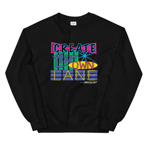 Create Your Own Lane - Black - Amaculent Apparel - Crew Neck - Amaculent Apparel