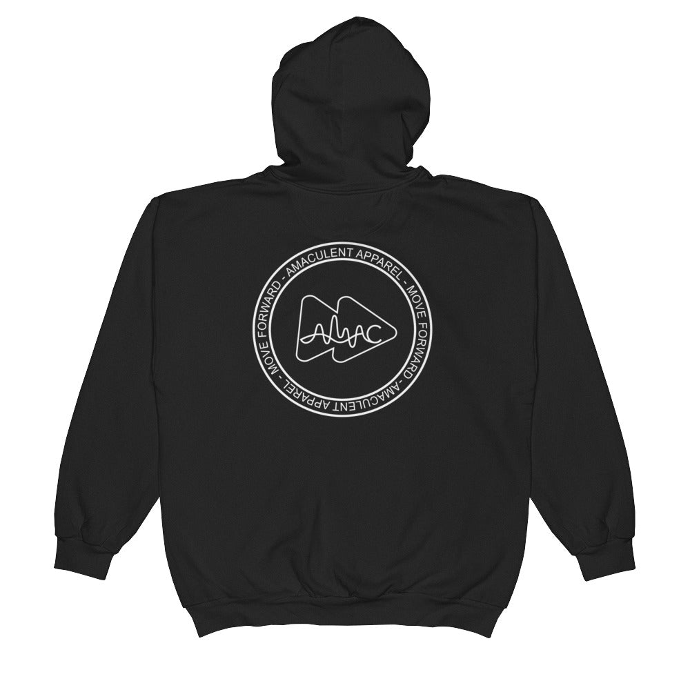 Amaculent Apparel Stamp Logo -  Zip Hoodie - Amaculent Apparel