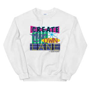 Create Your Own Lane - White - Amaculent Apparel - Crew Neck - Amaculent Apparel