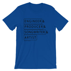 Multiple Hats - Engineer First .- T Shirt - Multiple Colors - Amaculent Apparel