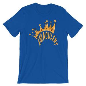 Crown - Blue T - Shirt Design - Amaculent Apparel - Amaculent Apparel