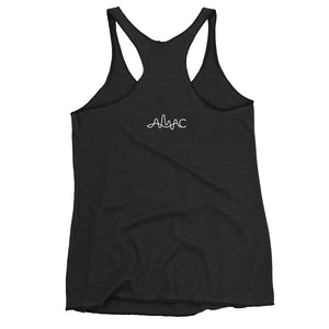Just Jump Words WHT - Racerback Tank - Amaculent Apparel