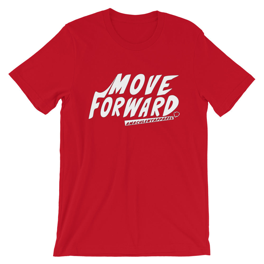 Move Forward Red T Shirt Design - Amaculent Apparel - Amaculent Apparel