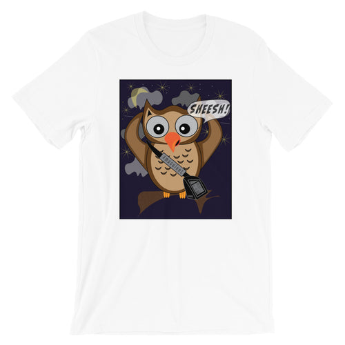 Owl Chain - White T - Shirt Design - Amaculent Apparel - Amaculent Apparel