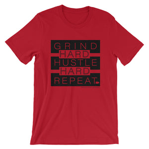 Grind+Hustle+Repeat - BLK - T Shirt - Multiple Colors - Amaculent Apparel