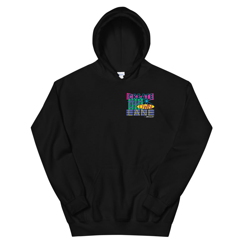 Create Your Own Lane - Black - Amaculent Apparel Hoodie - Amaculent Apparel