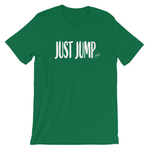 Just Jump Words WHT T Shirt - Multiple Colors - Amaculent Apparel