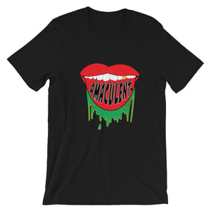 Smile Black T Shirt Design - Amaculent Apparel - Amaculent Apparel