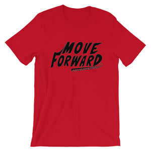 Move Forward White/ Red w/ Black Print T Shirt - Amaculent Apparel - Amaculent Apparel