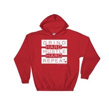 Load image into Gallery viewer, Grind+Hustle+Repeat - Heavy Blend Hoodie - Multiple Colors - Amaculent Apparel
