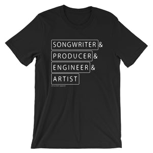 Multiple Hats - Songwriter First - T Shirt - Multiple Colors - Amaculent Apparel
