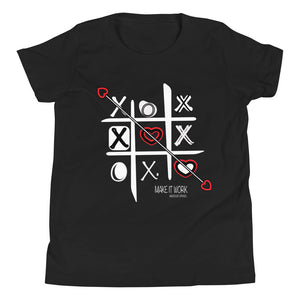 Make It Work X&O's - Amaculent Apparel - Youth Short Sleeve T-Shirt - Amaculent Apparel