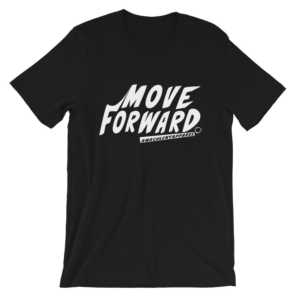 Move Forward Black T Shirt Design - Amaculent Apparel - Amaculent Apparel
