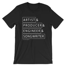 Load image into Gallery viewer, Multiple Hats - Artist Frist - T Shirt - Multiple Colors - Amaculent Apparel
