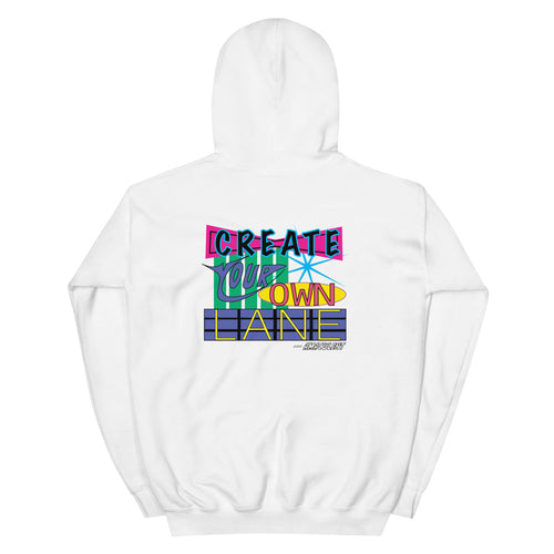 Create Your One Lane - White - Amaculent Apparel Hoodie - Amaculent Apparel