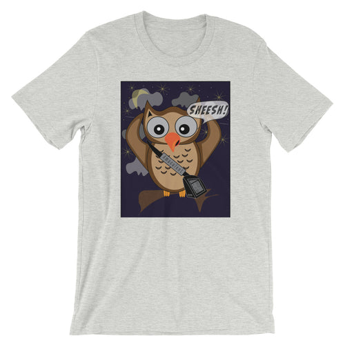 Owl Chain - Grey T - Shirt Design - Amaculent Apparel - Amaculent Apparel