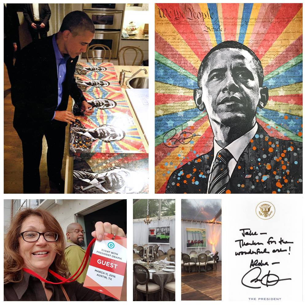 An Austin Themed Art Show for President Obama